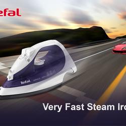 steam iron tefal billboard