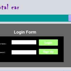car rental with database advance