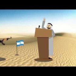 (Arab reaction after Trump Pronouncement (short animation