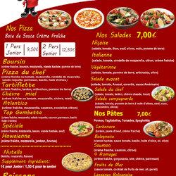 Flyer Pizza le Gambetta verso