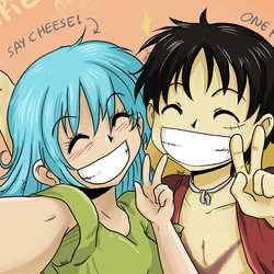 Selfie ( Tami and Luffy )