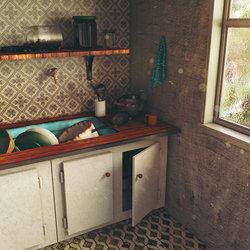 Morning Kitchen (3D Scene)