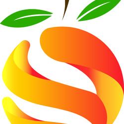 شعار على شكل برتقالة منحوتة ORANGE LOGO
