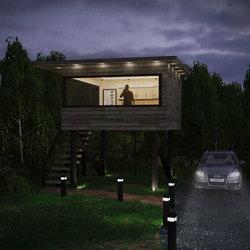 منزل صغير في الغابة