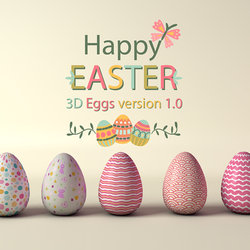 Happy Easter 3D Eggs Version 1.0