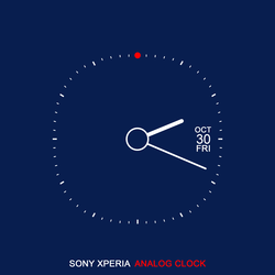 Sony Xperia Analog Clock