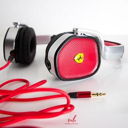 Ferrari Headphones Shot on White background
