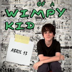 "poster for ""dairy of a wimpy kid ""film  from my design .."