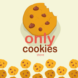 شعار متجر اونلي كوكيز | only cookies store