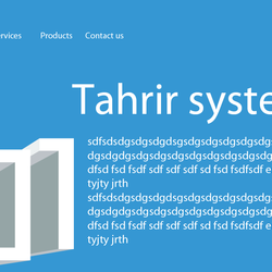 tahrir system company website redesign