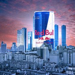 تصميم وهمي لشركة Red bull