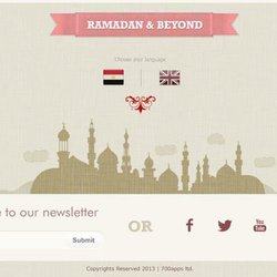 Landing Page, for Ramadan Mobile Apps Package 700apps