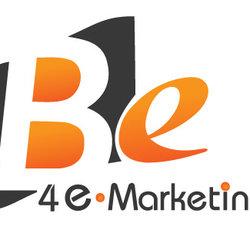 """لوجو ومجلة لشركة تسويق إلكتروني """"BE"""""""