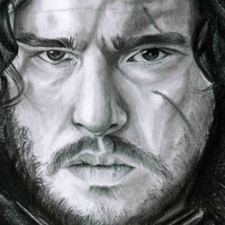 portrait Jon Snow from Game of Thrones