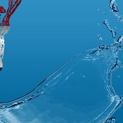 تصميم غلاف وصورة لشركة مياه