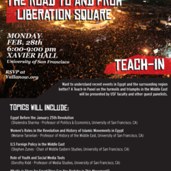 Egyptian Uprising Teach-in Poster