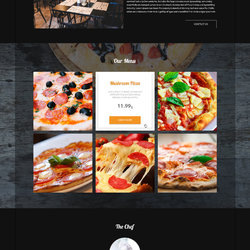 MonoPizza PSD Template