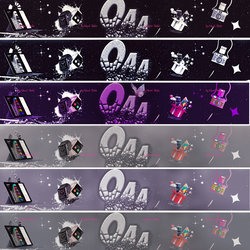 New design a variety of colors , Cover for YouTube