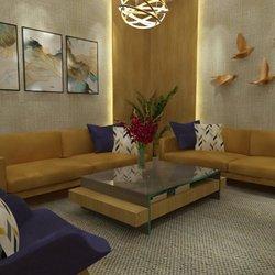تصميم داخلي لغرفة معيشة بسيطة