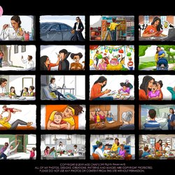 Color Storyboarding: Motherhood/ Women Empowerment