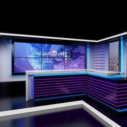"""ستوديو برنامج تلفزيوني """"الغد العربي"""""""