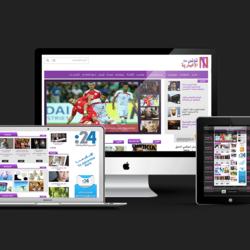 تصميم وتخطيط موقع الالكتروني لـقناة تونس الاخبارية تي في
