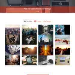 PhotoGraphy | One Page Template