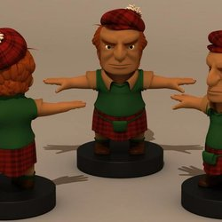 شخصيات ثلاثية الابعاد