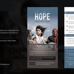 """Brochure """"  We have hope """""""