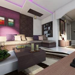 تصميم غرفة معيشة محلية