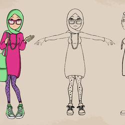Girl with Hijab