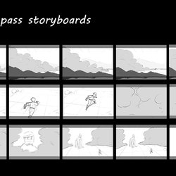 Storyboard sample rough pass