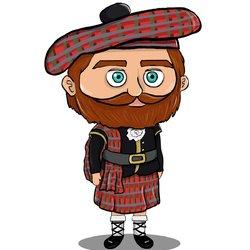 Chibi Scottish man