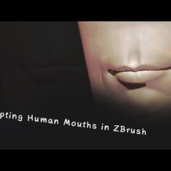 Sculpting Human Mouths in ZBrush (ZRemeshing the mouth Closing the mou
