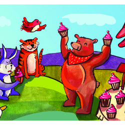 Bear makes candy