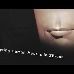 Sculpting Human Mouths in ZBrush (Blocking_in_the_lip_shapes)