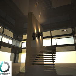 2 Story modern villa. 3d Visualizer (freelancer) - UAE,Dubai.