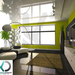 Modern living room. 3d Visualizer (freelancer) - UAE,Dubai.