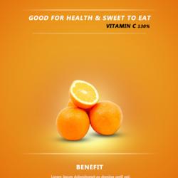 Fresh Orange Poster