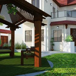 مشروع تصميم واجهات وحديقة لفيلا سكنية