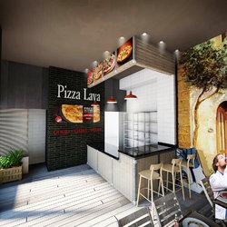 تصميم مطعم بيتزا pizza lava  السعودية