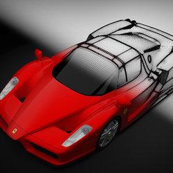 Ferrari Enzo 3D Modeling - تصميم فيراري