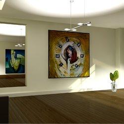 مشروع معرض اللوحات التشكيلية