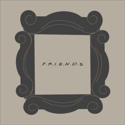 F.R.I.E.N.D.S Coasters - قاعدة أكواب قهوة لمسلسل فريندز
