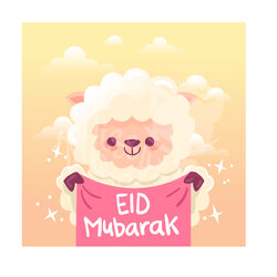 Eid Adha Sheep Cartoon