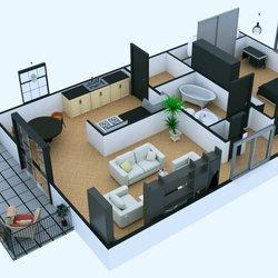 مخطط منزل ثلاثي الأبعاد