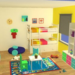 kids room 3d by maya autodesk