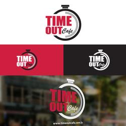 Time Out Cafe Logo Design