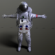 low poly astronaut + texture