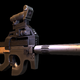 assault rifle from game Ghost Recon